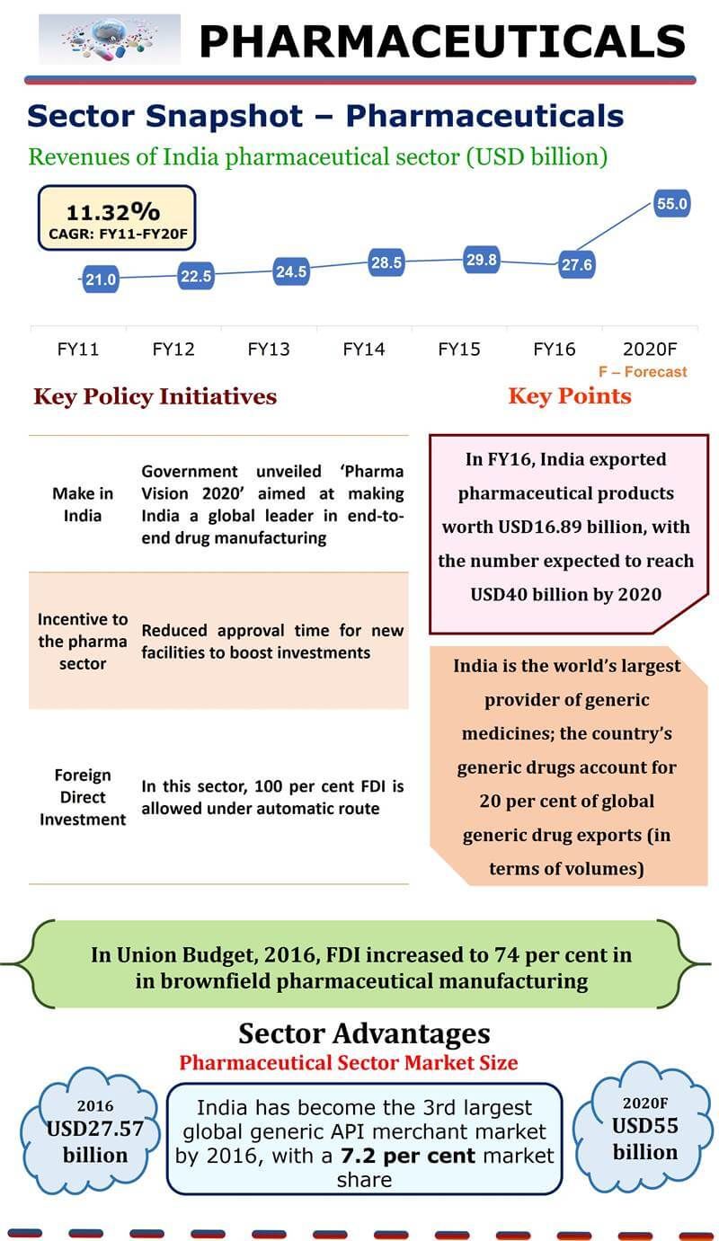 Infographic of India pharmaceutical sector and Companies